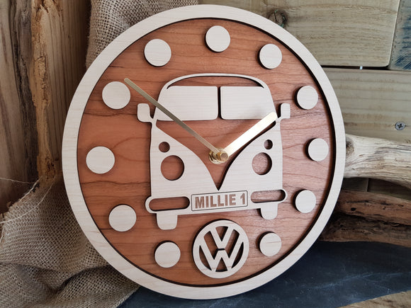 Personalised VW Camper Wood Clock