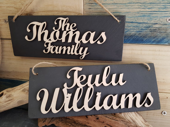 Personalised Slate Plaque