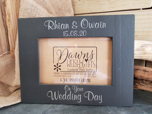 Personalised Slate Photo Frame