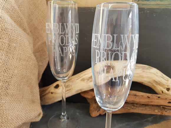 Pair of Champagne Glasses