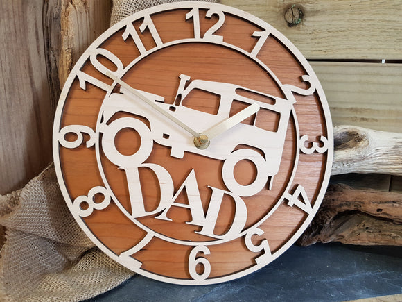 Personalised Landrover Clock