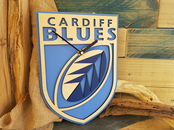 Blues Rugby Clock