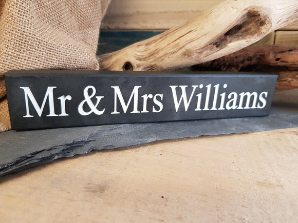 Personalised Slate Shelf Sitter