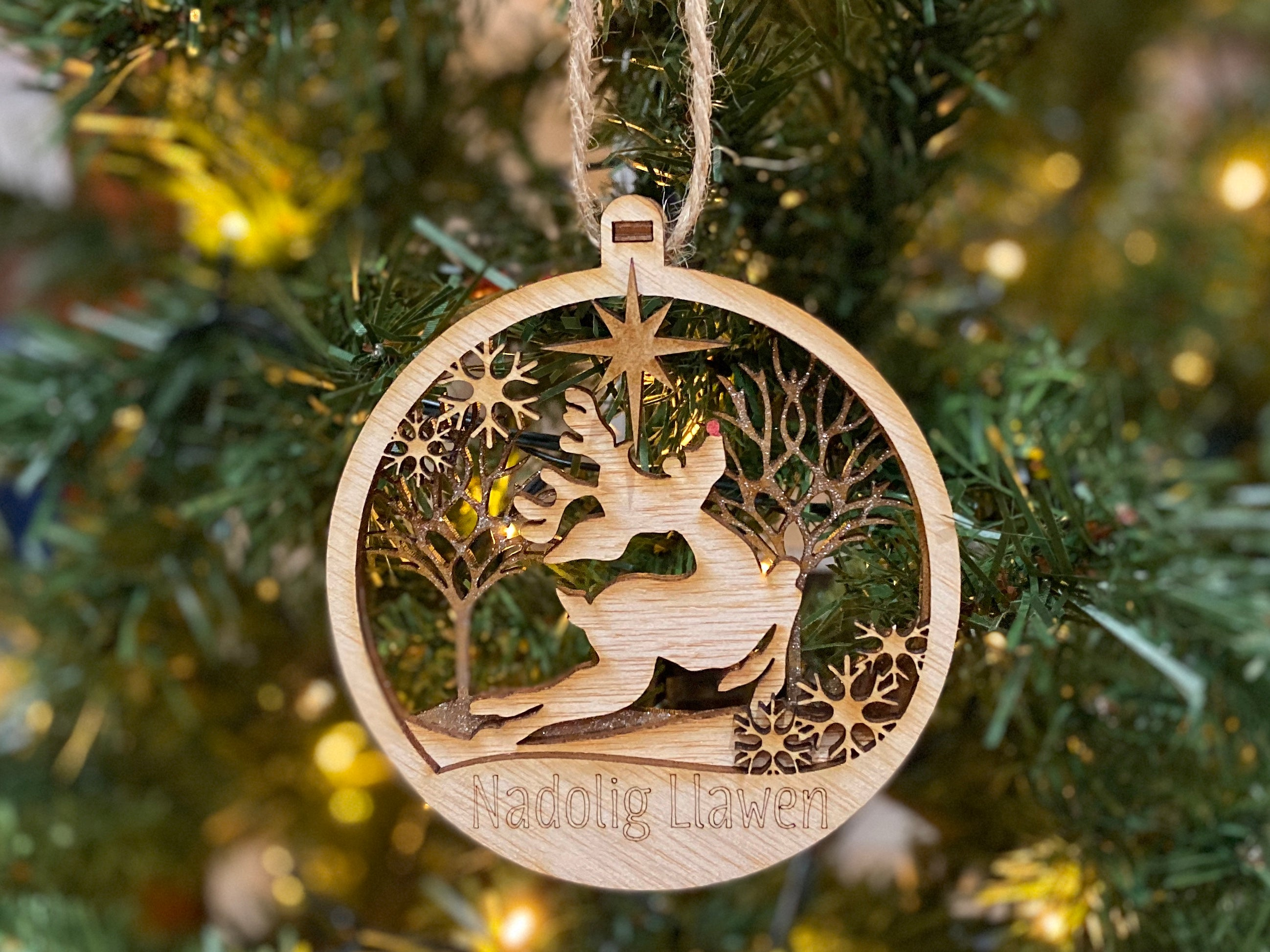 Reindeer 3D Wooden Bauble