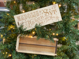 Christmas Wooden Pencil Case