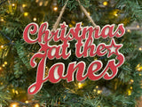 Mini Christmas At The Jones Hanging Sign
