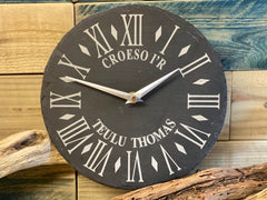 Slate Clock Personalised