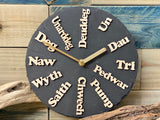 Slate Clock with Maplewood Detail