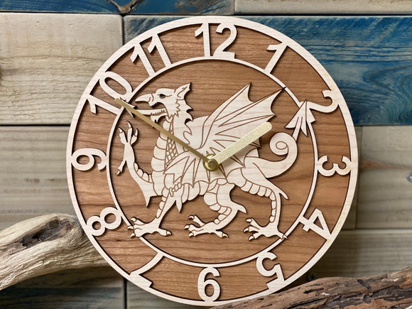 Welsh Dragon Clock