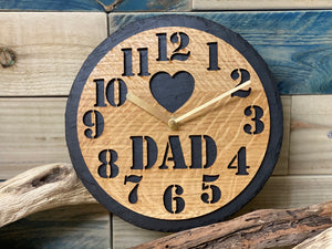 Slate & Oak Dad Clock