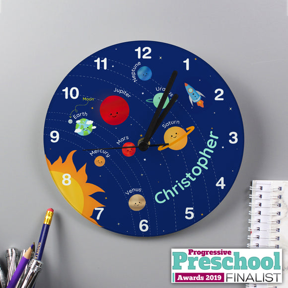 Personalised Glass Space Clock