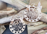 HORSESHOE FAVOUR WEDDING, PRIODAS  (Personalised)