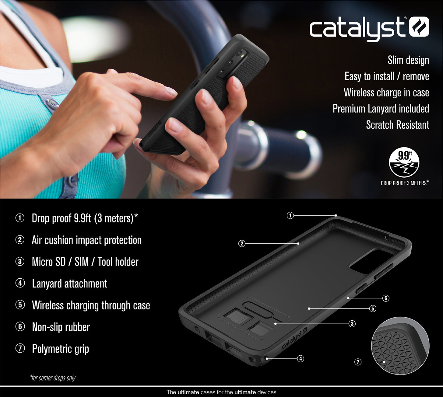 CATDRPGS20BLK | Impact Protection Case for Samsung Galaxy S20