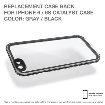 CATBACBLK6 | Replacement Case Back for Waterproof Case for iPhone 6/ 6s