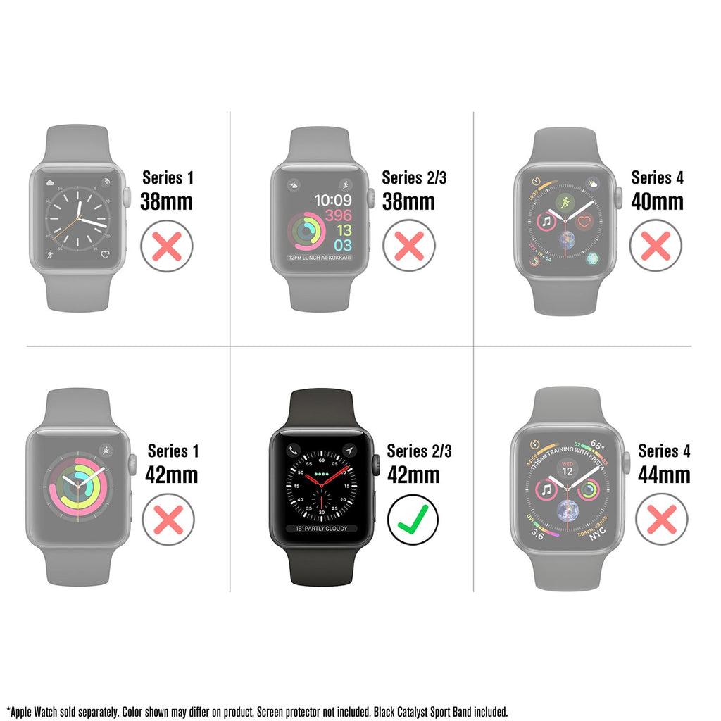 Waterproof Case for 42mm Apple Watch Series 3 Sport Band