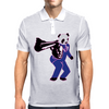00-Panda taking aim with gun Mens Polo