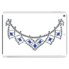 1950s Sapphire and Diamond Necklace Tablet