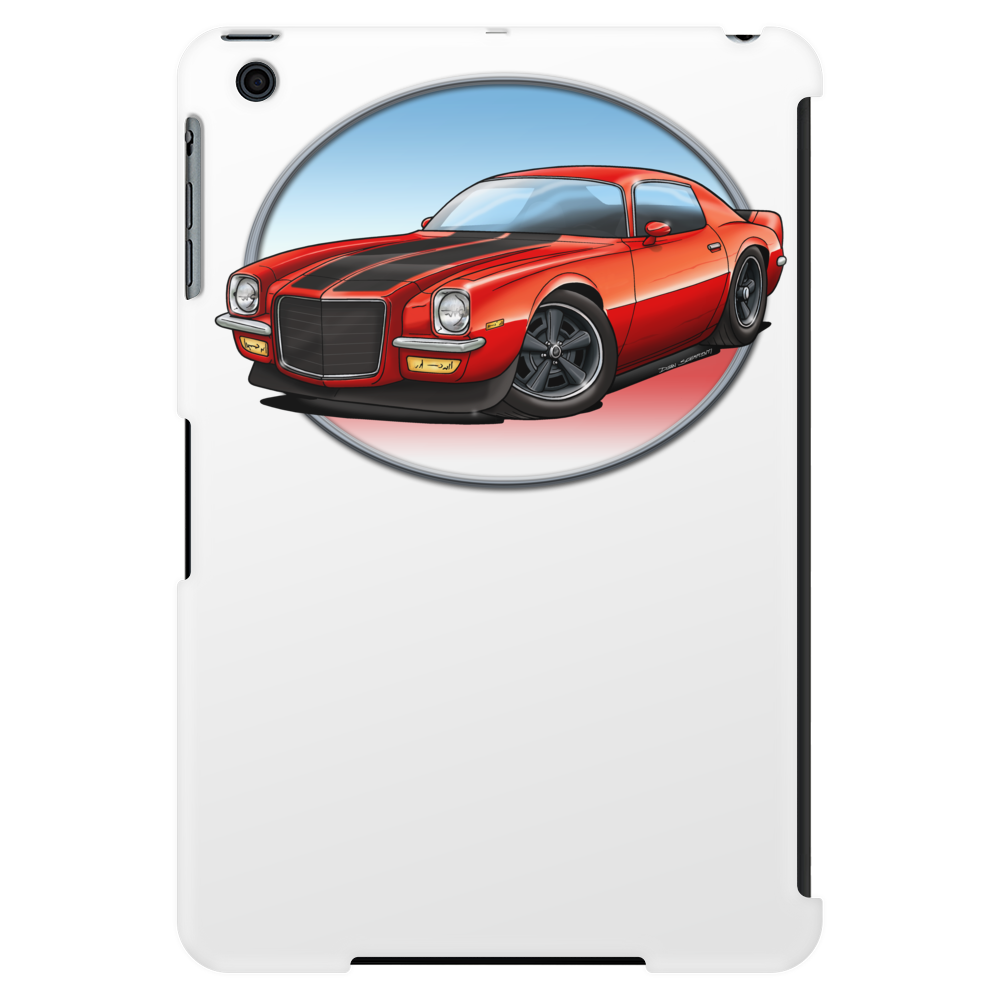 1970s Red Chevy Camaro Z28 SS RB Tablet (vertical)