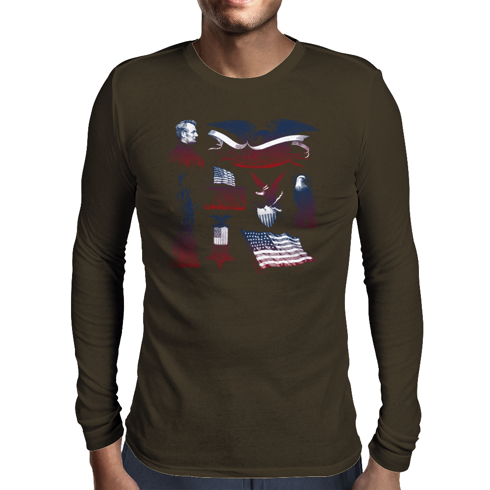 4th OF JULY Mens Long Sleeve T-Shirt