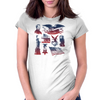 4th OF JULY Womens Fitted T-Shirt