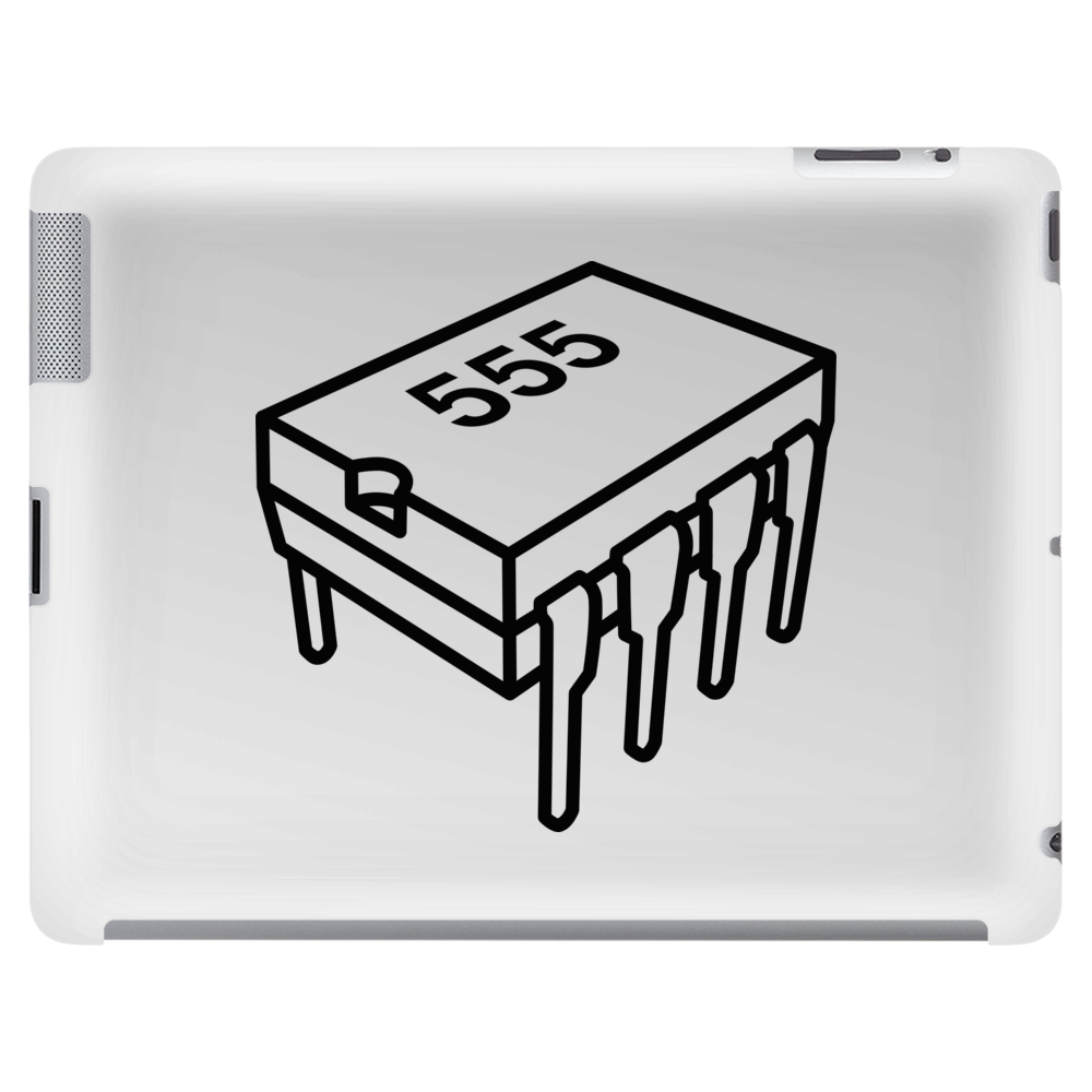 555 Timer Chip (Different Font) Tablet (horizontal)