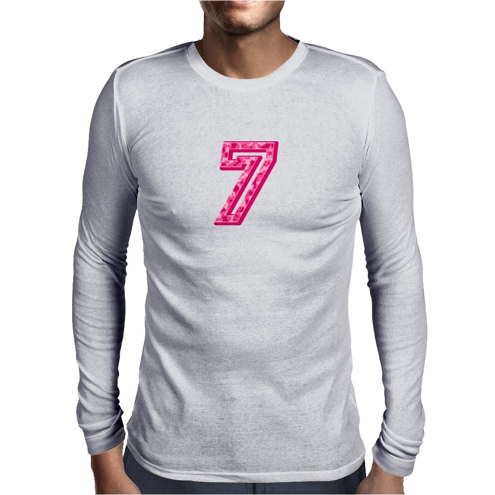 #7 Pink CAMO Mens Long Sleeve T-Shirt