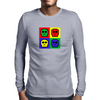 8-bit 4 color skulls Mens Long Sleeve T-Shirt