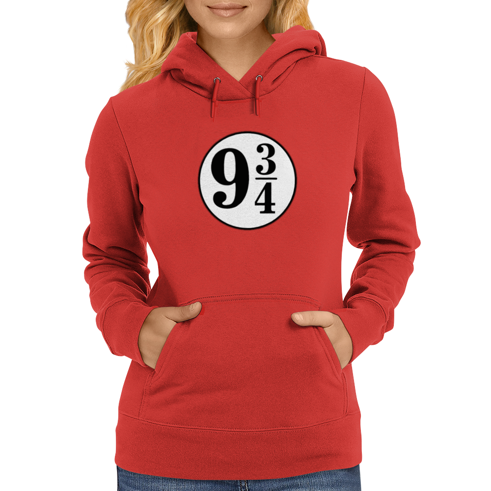 9 3/4 White Sticker Womens Hoodie