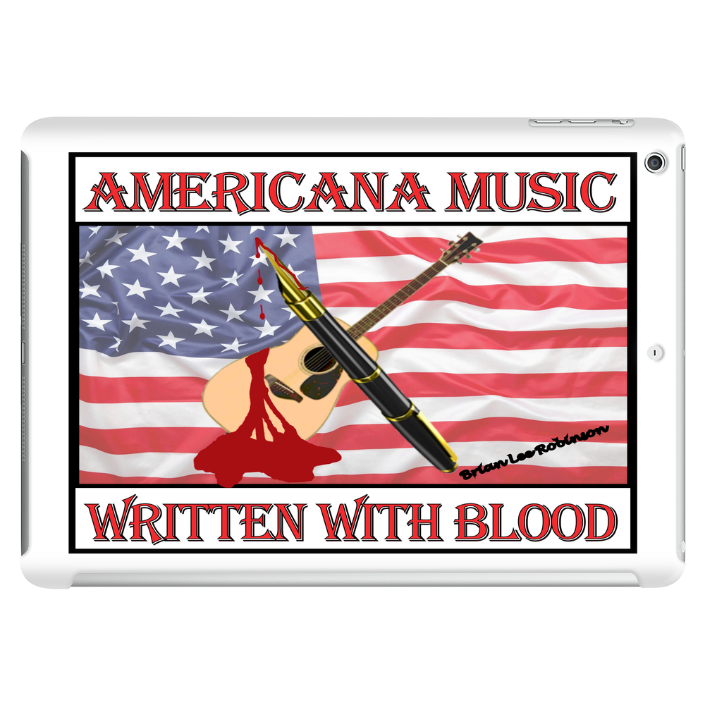 Americana Music, Written With Blood Tablet (horizontal)