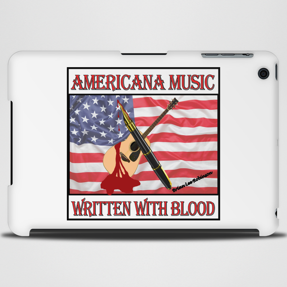 Americana Music- Written With Blood Tablet (horizontal)