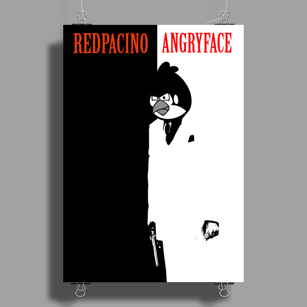ANGRYFACE Poster Print (Portrait)