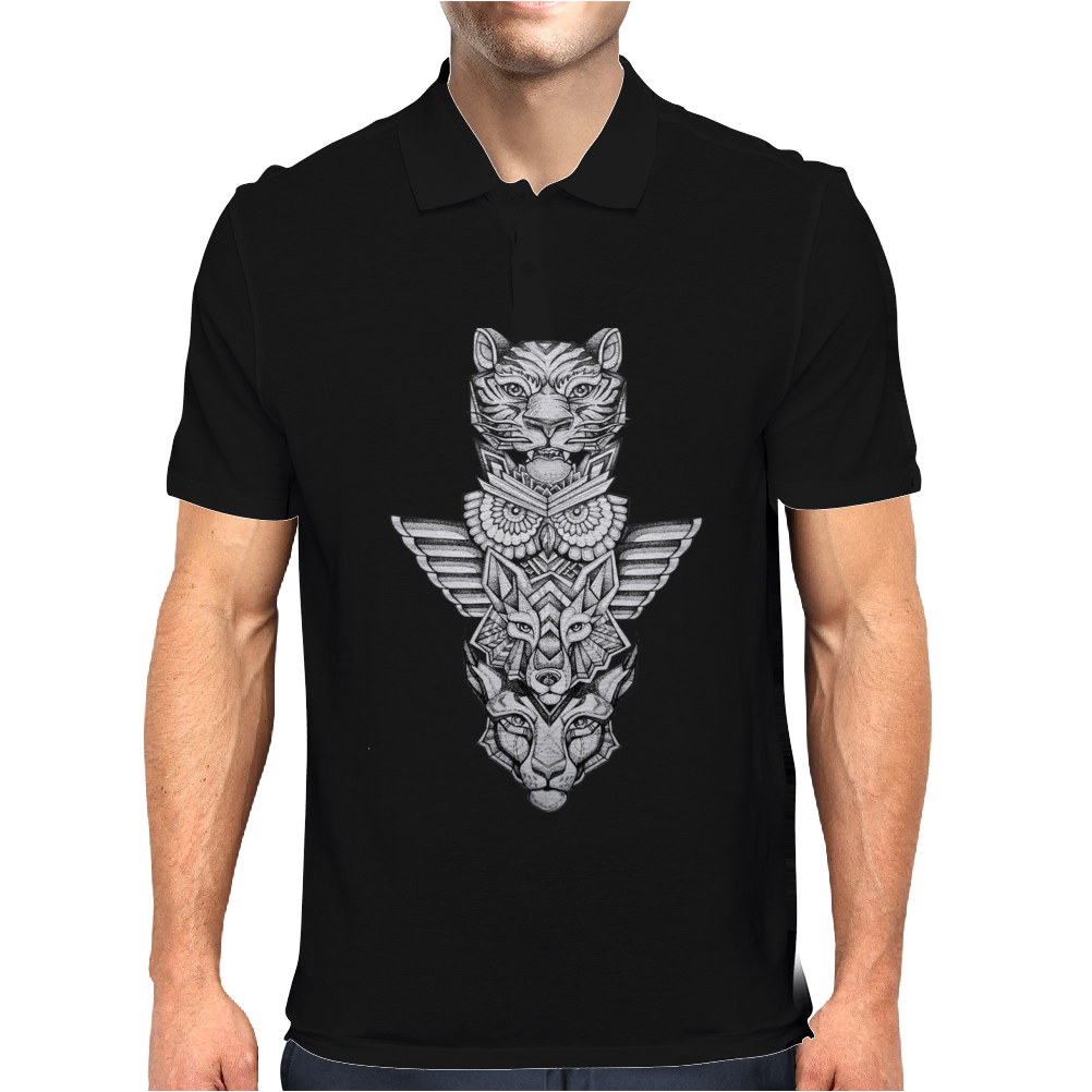 Animal Totem Mens Polo