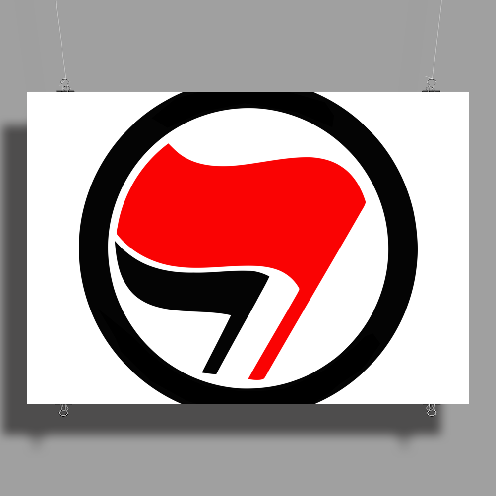 Anti-Fascist flags Poster Print (Landscape)