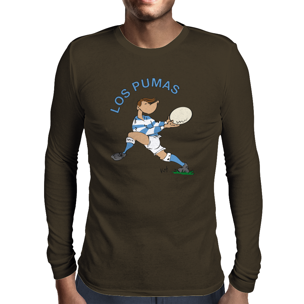 Argentina Rugby Back World Cup Mens Long Sleeve T-Shirt