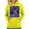 Artistic Blue Elephant Art AbstractOriginal Womens Hoodie