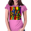 Artistic Colorful Chameleon Original Art Womens Fitted T-Shirt