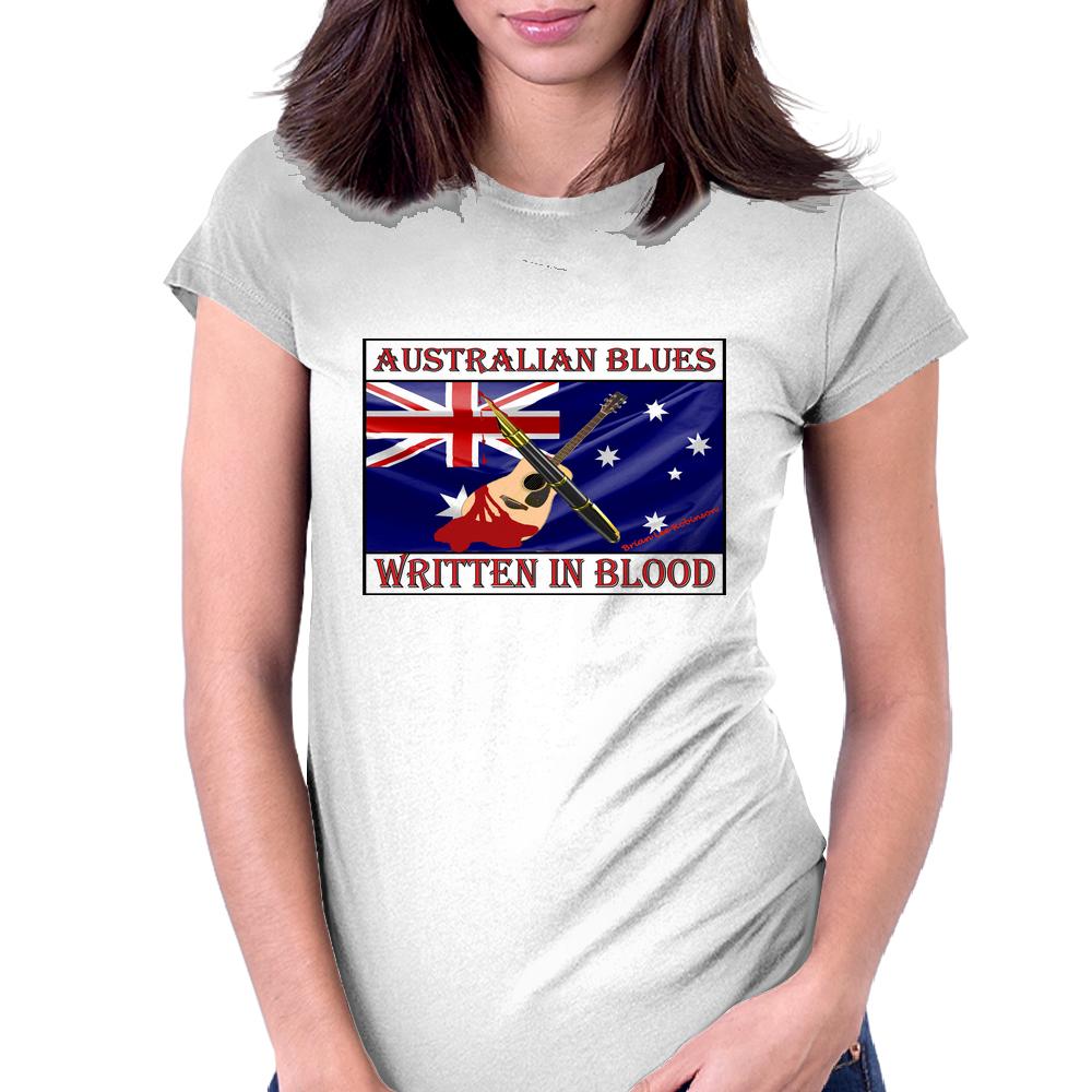 Australian Blues, Written In Blood Womens Fitted T-Shirt