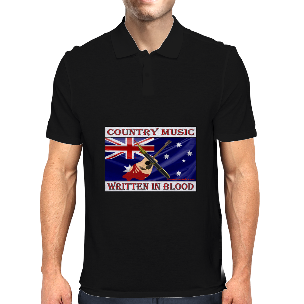 Australian Country Music, Written In Blood Mens Polo