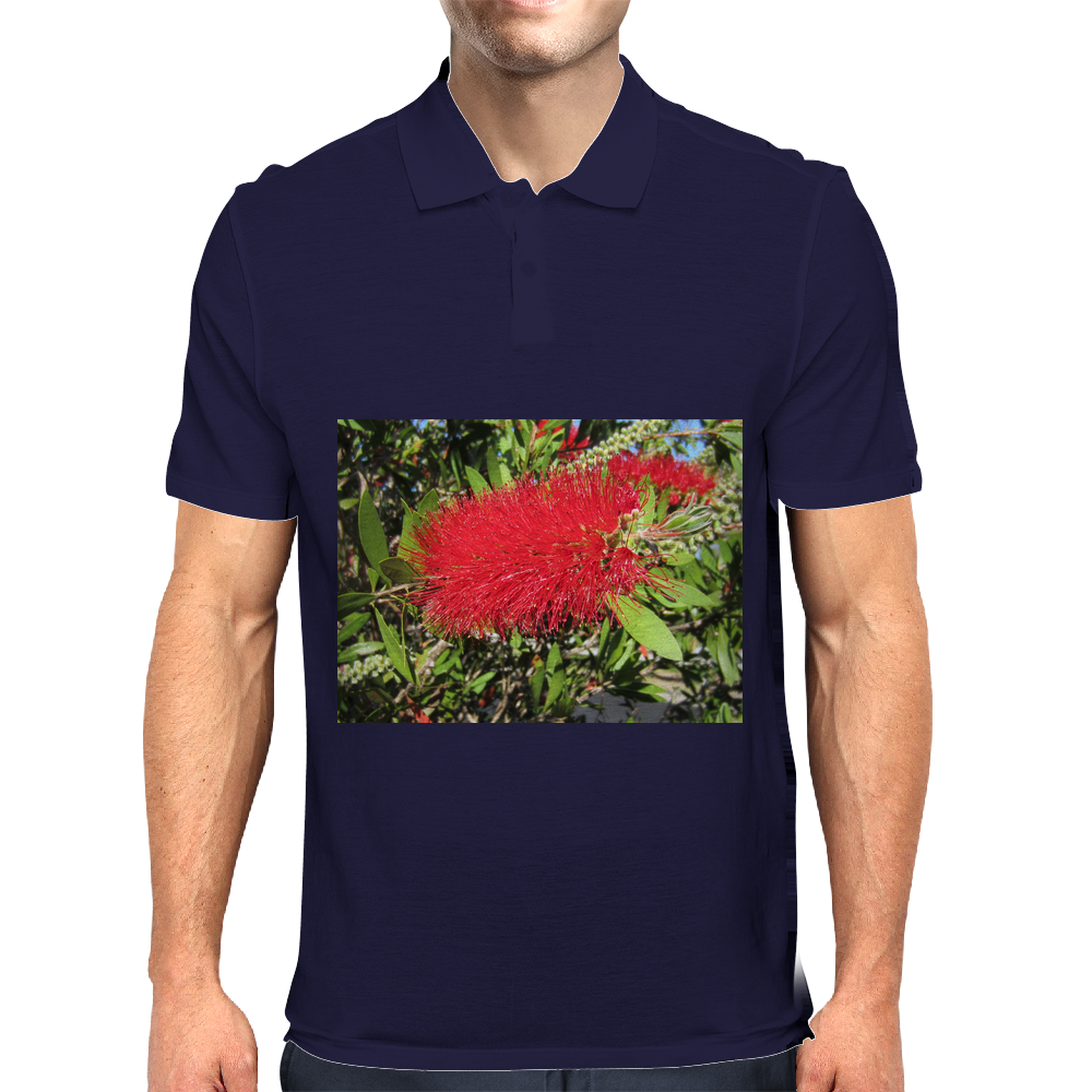 Australian Red BottleBrush Mens Polo