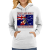 Australian Rock and Roll-Written With Blood Womens Hoodie