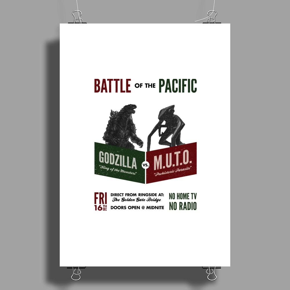 Battle of the Pacific Poster Print (Portrait)