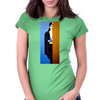 BEHIND THE  DOOR  HER NAME IS BELLA Womens Fitted T-Shirt