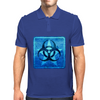 Biohazard Blue Mens Polo