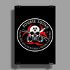 Biohazard Zombie Squad 3 Ring Patch outlined 2 Poster Print (Portrait)