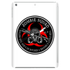 Biohazard Zombie Squad 3 Ring Patch outlined Tablet (vertical)