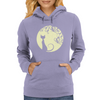 Black cat in the moon Womens Hoodie