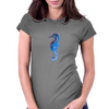 Blue seahorse (Hippocampus) Womens Fitted T-Shirt