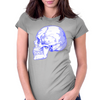 BLUE SKULL Womens Fitted T-Shirt