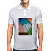 Bold White Flowers Mens Polo