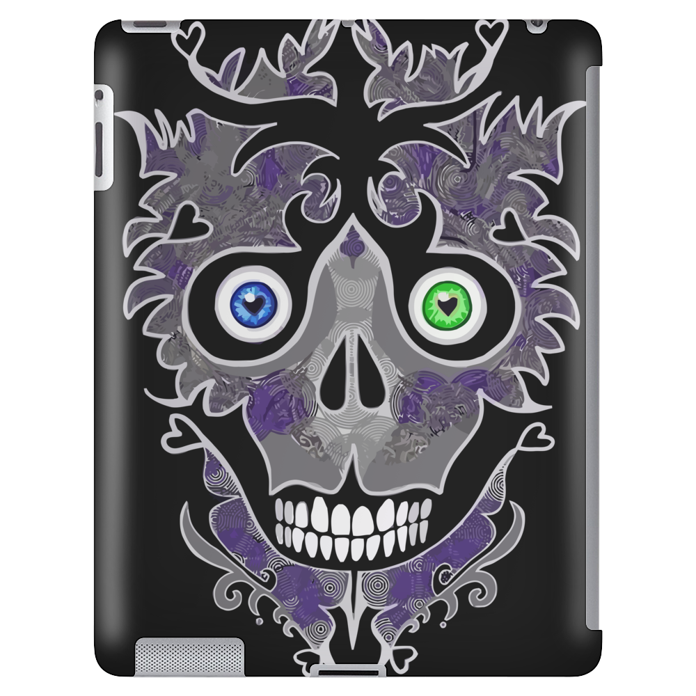 """Daddy Skully"" design by EBC. Purple Skull, modern design, bold look. Tablet (vertical)"